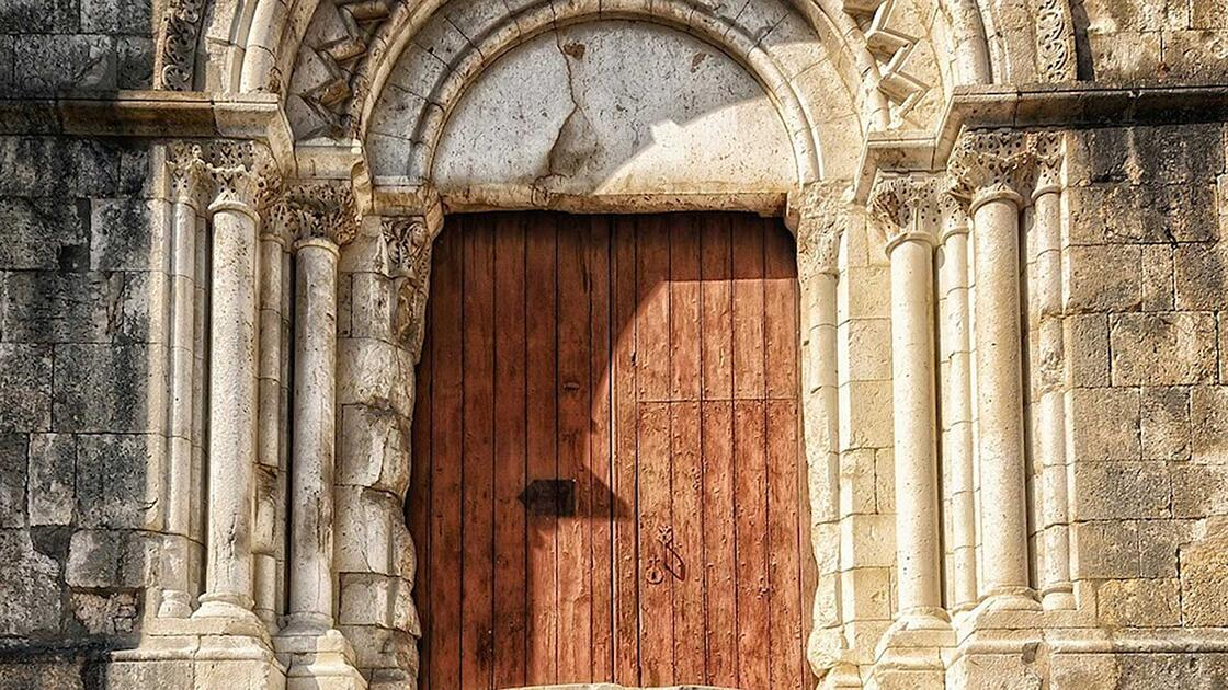 Front doors of a closed church